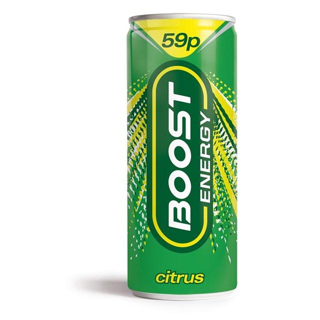 """ენერგეტიკული სასმელი """"BOOST"""" ციტრუსი 250მლ."""