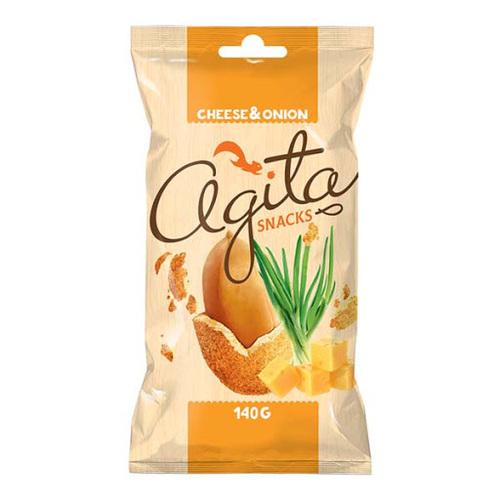 """ხრაშუნა არაქისი """"Agita"""" ყველით და ხახვით 140გრ."""