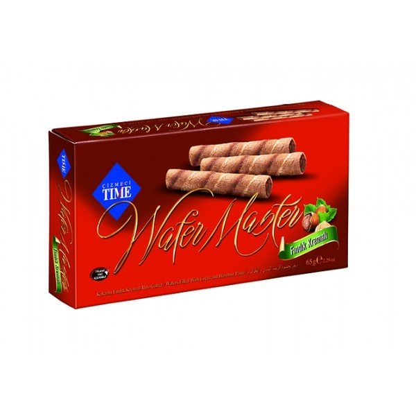 """wafer sticks in a box """"TIME"""" with nuts"""