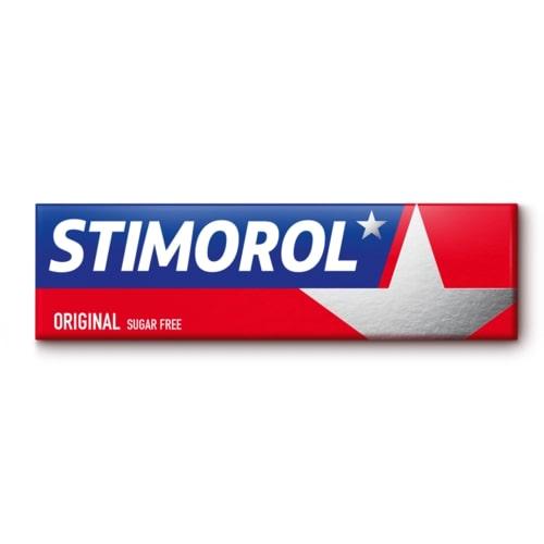 """საღეჭი რეზინი """"STIMOROL"""" შაქრის გარეშე 14გრ.   Original"""
