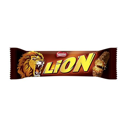 "Chocolate bar with caramel ""Nestle"" LION 42g."