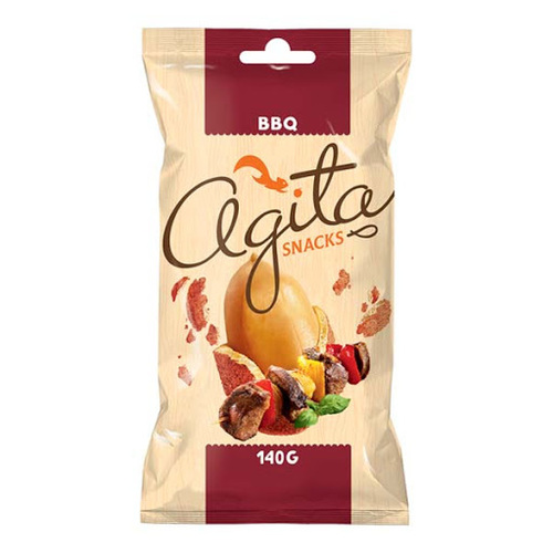 """ხრაშუნა არაქისი """"Agita"""" ბარბიქიუ სოუსით 140გრ."""