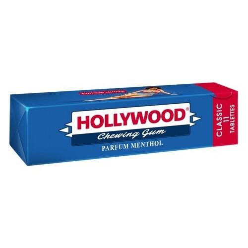 """საღეჭი რეზინის ფირფიტები """"HOLLYWOOD"""" MENTHOL 31გრ."""