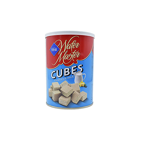 """wafer cubes """"TIME"""" with milk"""