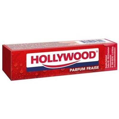 """საღეჭი რეზინის ფირფიტები """"HOLLYWOOD"""" STRAWBERRY 31გრ."""
