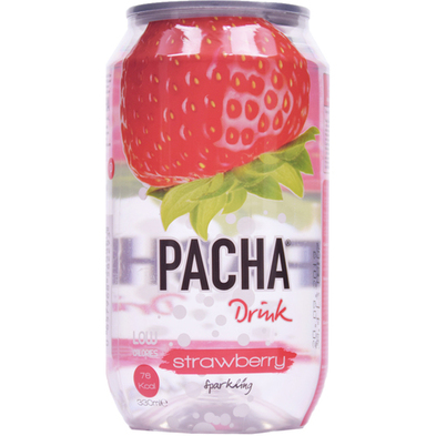 """carbonated drink """"PACHA""""  Strawberry"""