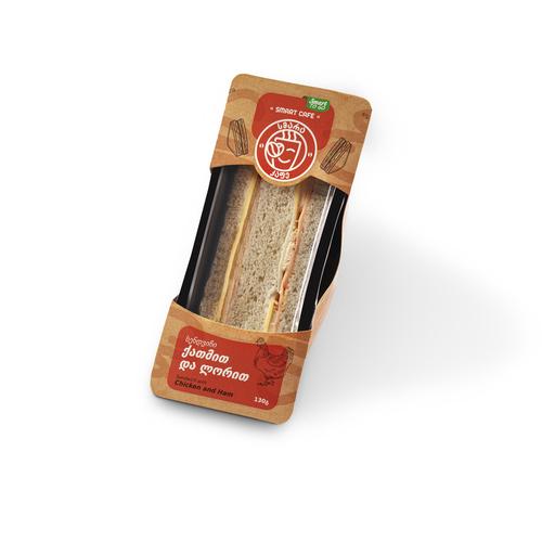 sandwich with chicken and ham