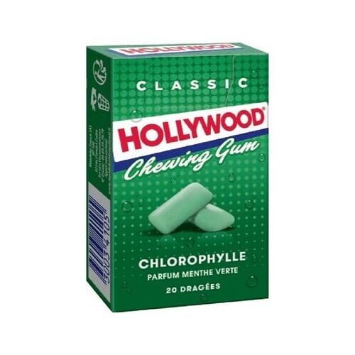 """საღეჭი რეზინი """"HOLLYWOOD"""" GREEN 28გრ."""