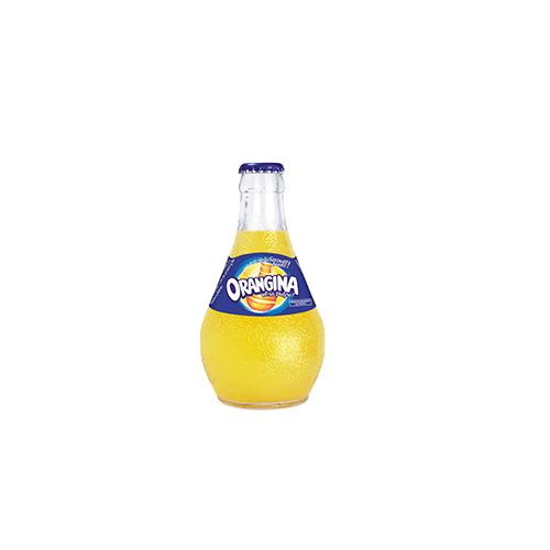 "drink ""ORANGINA"" in glass bottle"