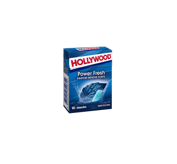 """Chewing gum """"HOLLYWOOD"""" POWER FRESH 14 g. without sugar"""