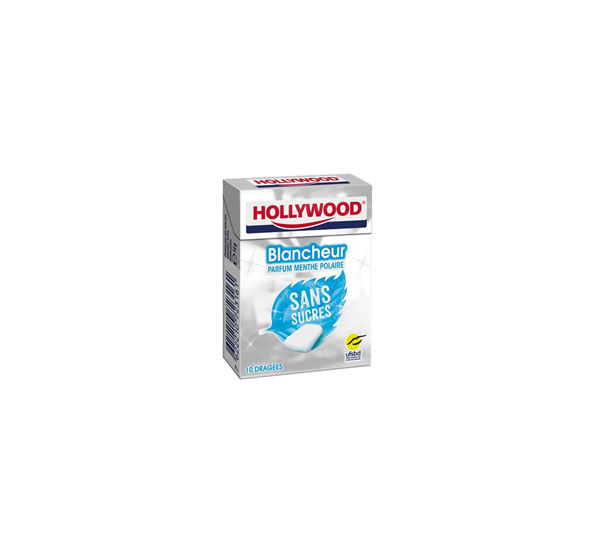"""Chewing gum """"HOLLYWOOD"""" WHITE POLAR 14 g. without sugar"""