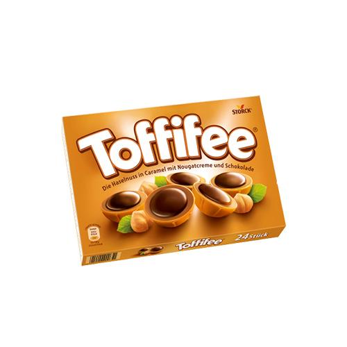 """კარამელი შოკოლადით და თხილით """"TOFFIFEE"""""""