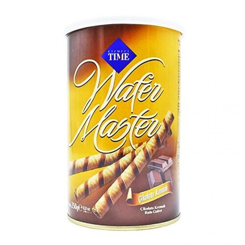 """wafer sticks """"TIME"""" with chocolate"""
