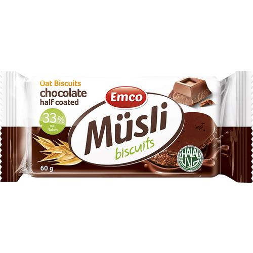 """მარცვლეულის ბატონი შოკოლადით """"Emco"""" 60გრ."""